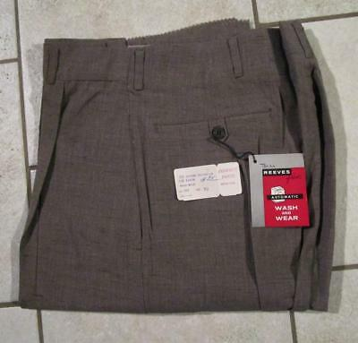VINTAGE NOS 1950's REEVES PERFECT PANTS CO. WASH & WEAR FARM WORK WORKWEAR 32