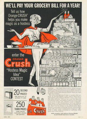 We'll pay your grocery bill Orange Crush Contest ad '62
