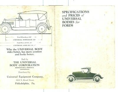 Vintage Universal Bodies for Ford Cars