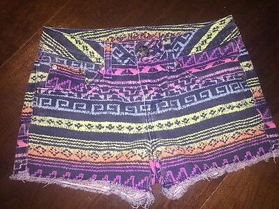 JUSTICE Girls Aztec Cutoffs Jean Shorts 10 R Simply Low