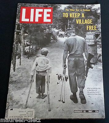 August 25, 1967 LIFE Magazine, 60s ads adds FREE SHIPPING Aug. 8 26 27 24 23