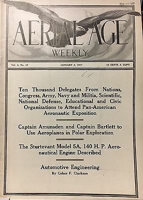 Aerial Age Weekly January 8, 1917 100+ Years Old-Terrific Condition! Check Pics!