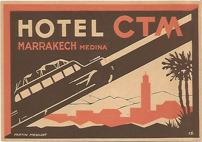 HOTEL CTM luggage DECO label (MARRAKECH)
