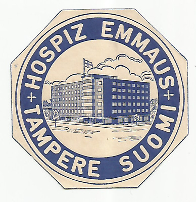 HOTEL EMMAUS luggage label (TAMPERE)