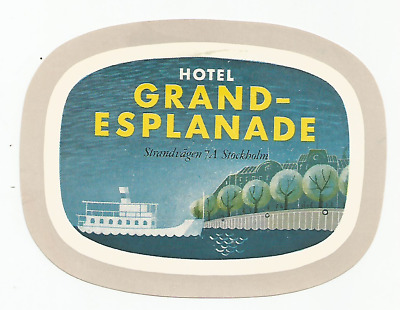 GRAND HOTEL ESPLANADE luggage label (STOCKHOLM)