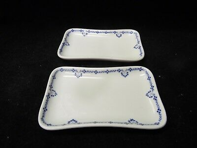 Pair Of Antique Buffalo China Tray or Soap Dishes / Blue And White / 1924