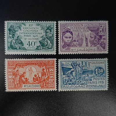 New Caledonia N°162/165 New With Original Gum Value