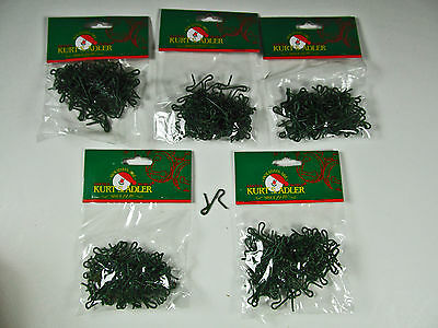 "Christmas 60043 Ornament Hooks 1"" 300 Pcs Green Strong 25MM Heavy Duty Wire"