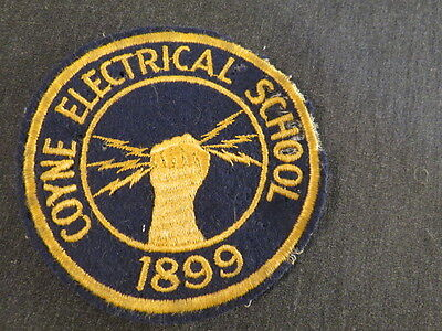 VTG Coyne Electrical School 1899 Patch Hand Lighting bolts wool