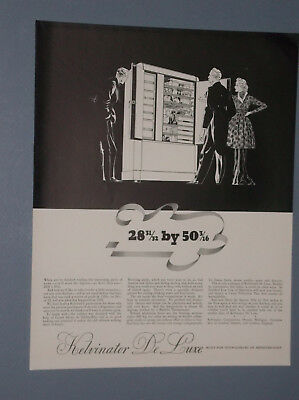 3 1936 Kelvinator Deluxe Large Refrigerator Ads Art Deco Styling