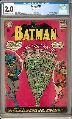 Batman #171 CGC 2.0 (C-OW) 1st Silver Age Riddler Appearance