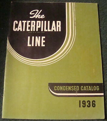 1936 caterpillar line catalog, 42pgs. tractor, original, lots of info.