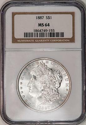 1887 NGC MS64 Morgan Silver Dollar Item#M1039