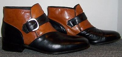 Vintage Johnston & Murphy Aristocraft Leather Ankle Boots Size 7.5 D/b!