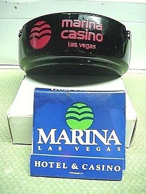 MARINA CASINO Las Vegas Ashtray & Matchbook 'VINTAGE' RARE