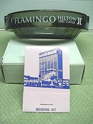 FLAMINGO HILTON CASINO Las Vegas Ashtray & Mending Kit 'VINTAGE'