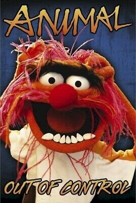 MUPPETS ~ ANIMAL OUT OF CONTROL ~ 24x36 POSTER Disney Jim Henson NEW/ROLLED!