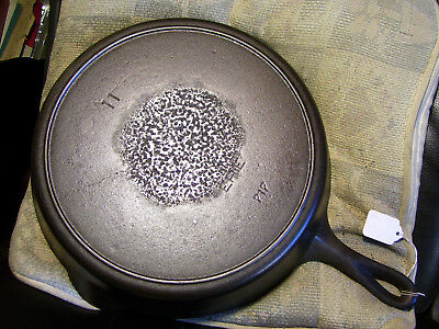 #11 Griswold ERIE,Cast Iron Skillet,717,Heat Ring,Large Logo,Slant, Cleaned