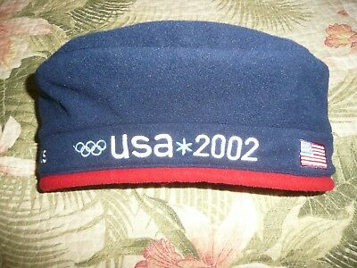 Roots Olympic Cap Hat Beret Fleece Team Usa Olympics United States Us 2002