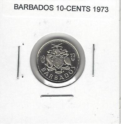 Barbados 10 Cents, 1973, Proof