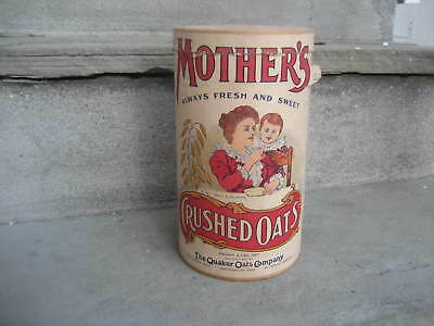 Vintage Mother's Crushed Oats Cardboard Canister