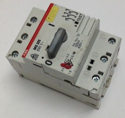 Abb 12 5 16a 690v starter manual 3 phase 20 25a din rail for Abb motor circuit protector
