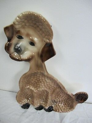 California Pottery Vintage Poodle Serving Tray Wall Hanging