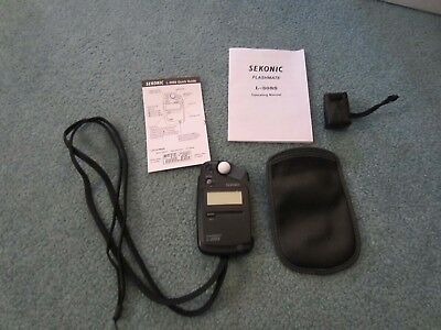 Sekonic L-308S Flashmate Light Meter With Pouch Strap And Booklet Excellent Cond