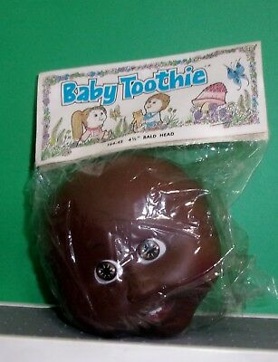 VINTAGE Cabbage Patch Doll Black African American Bald Head 1984 BABY TOOTHIE