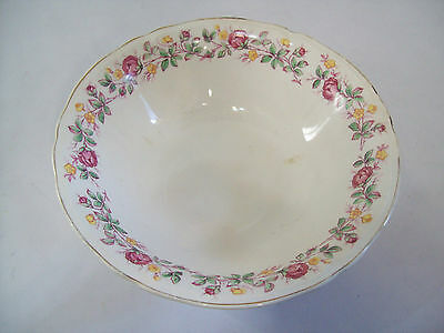 "Vintage Edwin Knowles Semi Vitreous Floral Bowl 8 3/4"" 1760-E-1 Made USA"