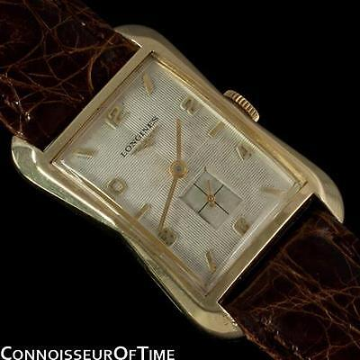 1956 LONGINES Vintage Mens Dress Watch, 10K Gold Filled - Hourglass Shape
