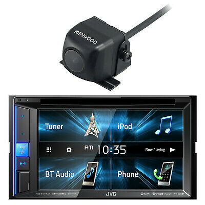 JVC In-Dash DVD/CD/AM/FM Car Receiver and Kenwood CMOS-130 Rear-View Camera