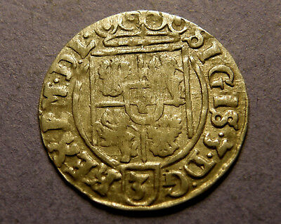 1626 Silver 1/24th Thaler Colonial Coin WAZA Mint - Knights Templar Coat of Arms