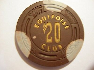$20.00, Equipoise Club, Sacramento, Ca. Large Crown, Rare,