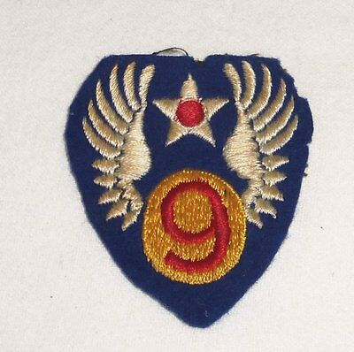 0364 Original Usaaf Army Air Corps  Wwii /ww2 9Th Aaf Theatre Made Patch