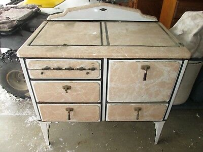 Antique Vintage White Star Stove Gas Oven Mid Century Project