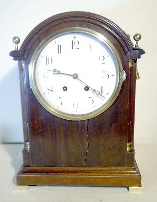 "C1890s Black, Starr & Frost 17"" HIGH French H & H Bracket Clock w/ 7 1/2"" Dial"