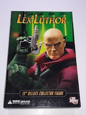 """New Dc Direct 1:6 Scale Lex Luthor 13"""" Deluxe Collector Figure"""