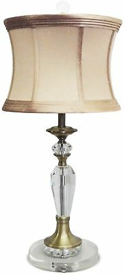 Brass Crystal Base Table Lamp