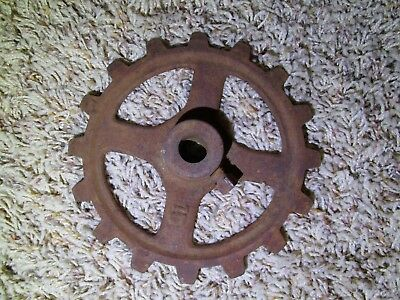 Gear 6 INCH Steampunk Industrial Lamp Base Iron Antique Rusty Barn Find