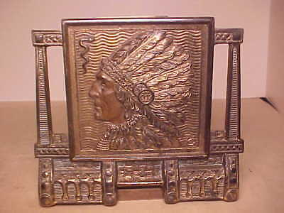 Antique Judd Native Chief Bookrack Book Ends Expandable