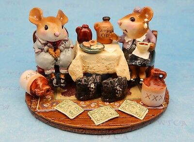 HEAD CHEESE AND HIS MOLL by Wee Forest Folk, WFF# M-285, Folktoberfest Exclusive