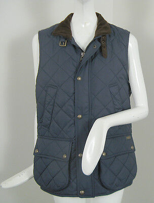 NEW! Polo Ralph Lauren Womens Quilted Vest!  Equestrian Style *Navy or Black*