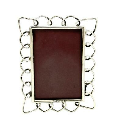 Antique Victorian Sterling Silver Ring Photo Frame 1896