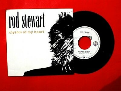 Single - Schallplatte  ROD STEWART 1991  RHYTHM OF MY HEART