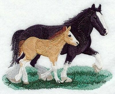 Embroidered Sweatshirt - Clydesdale Horse M1710 Sizes S - XXL