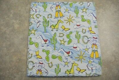 Cowboy Horse Cactus Horseshoe Boots Baby Blanket Can Be Personalized