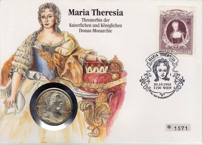 Numisbrief Coin Cover Österreich 25 Shilling 1967 SILBER Maria Theresia