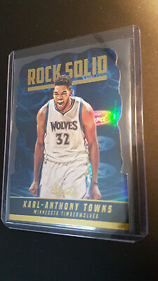 2016-17 Panini Studio Rock Solid Cut SP Insert Karl Anthony Towns Rare