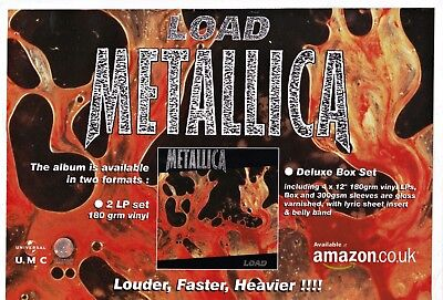 METALLICA Load Deluxe Box Set - Original Music Press Advert A5/C5 Laminated